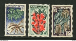 Madagascar ** N° 332 à 334  -Produits Agricoles Locaux  . - Madagascar (1889-1960)