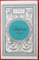 Calendrier Parfume 1969 DEDICACE De CHERAMY Pour CLERMONT EN ARGONNE GENESTOUX - Petit Format : 1961-70