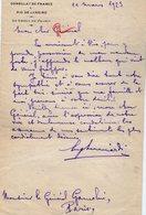 VP13.067 - Consulat De France à RIO DE JANEIRO 1923  - Lettre Du Consul De France Pour Mr Le Général GAMELIN à PARIS - Manuscripts