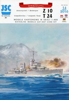 German Destroyer Z 10 And Torpedo-boat T 24 - Card Model Scale 1/400 # JSC 31 - Paper Models / Lasercut