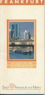 Deutschland Frankfurt Städteführer 1990 Stadtplan Verkehrsplan 42 Seiten - Frankfurt Am Main