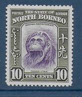NORTH BORNEO - YVERT N° 248 * MLH - COTE = 35 EUR. - FAUNE ET FLORE - SINGE - Noord Borneo (...-1963)