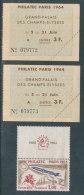 Lot De Deux Tickets D'entrée à Philexfrance 1964 + Timbre N°1422(*) - Tickets D'entrée