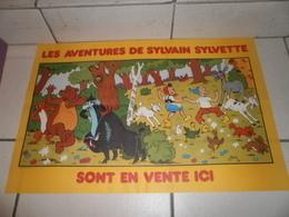 PESCH Jean-Louis. Les Aventures De Sylvain Et Sylvette. RARE Affiche PUB Avec Tous Les Personnages De La Série. 1979. - Posters
