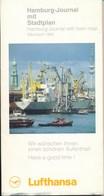 Deutschland Hamburg - Journal Mit Stadtplan 1993 Lufthansa 45 Seiten - Hamburg & Bremen