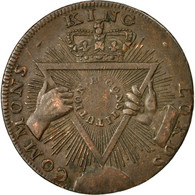 Monnaie, Grande-Bretagne, T & R Davidson, Halfpenny Token, 1795, Middlesex, TTB - Monnaies Régionales