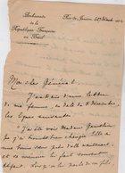 VP13.069 - Ambassade De France à RIO DE JANEIRO 1922 - Lettre De Mr L'Ambassadeur R. CONTY Pour Mr Le Général GAMELIN - Manuscripts