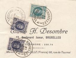 2 X N° 204 + N° 208 SUR FRAGMENT - 1922-1927 Houyoux