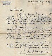 VP13.070 - RIO DE JANEIRO 19?? - Lettre De Mr Raoul ARMENGAUD Pour Mr Le Général GAMELIN - Manuscripts