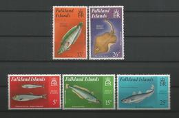 Falkland 1981 Shelf Fishes Y.T. 334/338 ** - Falklandinseln