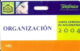 TARJETA CEPSA GIBRALTARTELEFONICA JUNTA DE ACCIONISTAS - Unclassified