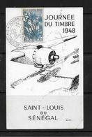 France Colonie  N°32  D'AOF Journée Du Timbre Sur Carte Postale - Brieven En Documenten