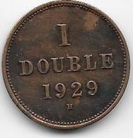 Guernesey - 1 Double - 1929  - TTB - Guernesey