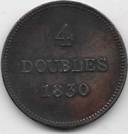 Guernesey - 4 Doubles - 1830  - TTB - Guernesey