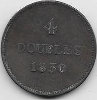 Guernesey - 4 Doubles - 1830  - TB - Guernsey