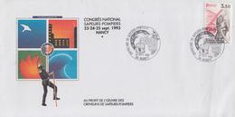 Enveloppe  FRANCE  Orphelins   Des   SAPEURS - POMPIERS   NANCY   1993 - Sapeurs-Pompiers