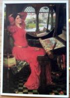 J.W. WATERHOUSE I AM HALF SICK OF SHADOWS SAID THE LADY OF SHALOT LA TISSERANDE JOLIE FEMME SCAN R/V - Peintures & Tableaux