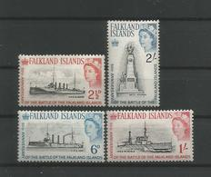 Falkland 1964 50th Anniv. Of The Battle Of The Falklands Y.T. 144/147 ** - Falklandinseln