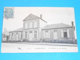 58 ) Champvert - N° 1171 - La Mairie Et Les écoles -  Année 1906  -  EDIT - Hirondelle - France