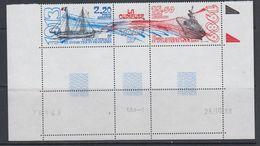 TAAF 1989 La Curieuse Strip 2v+label (corner, Printing Date) ** Mnh (40894) - Franse Zuidelijke En Antarctische Gebieden (TAAF)