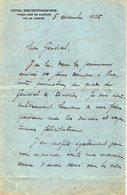VP13.072 - Hotel Dos Estrangeiros à RIO DE JANEIRO 1925 - Lettre De Mr ??  Pour Mr Le Général GAMELIN - Manuscripts