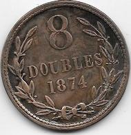 Guernesey - 8 Doubles - 1874 - TTB - Guernesey