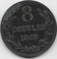Guernesey - 8 Doubles - 1889 H - TTB - Guernsey