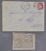 1933 BEAUMONT (63) TIMBRE PAIX S/ LETTRE PLAUZAT + MANDAT POSTAL CACHET PERLÉ PUY-DE-DÔME - 1921-1960: Modern Period