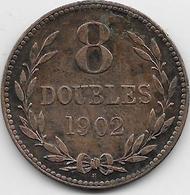Guernesey - 8 Doubles - 1902 - TTB - Guernsey