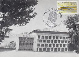 Carte   FRANCE  1er  Jour  Du   CODE  POSTAL     LES  ANGLES    1984 - Poste
