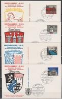 BRD FDC 1964 Nr.416 - 427 Hauptstädte Der Länder Der BRD 12 FDC Mi 23,60€ ( K 43 ) Günstige Versandkosten - BRD
