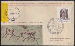 Maribor, Philatelic Meeting 1961, Post Delivered By Runner, From Maribor To Ptuj - Posta