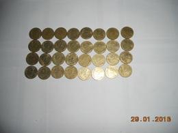 LOT DE PIECE FRANCAISE 135 P DE 5C 10 C 20 C 50 C 1FR  ET 10FR POUR COMMENCER UNE COLLECTION TOUTE DIFFERENTE - Monnaies & Billets