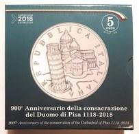 Italia 2018 5 € Proof 900° Del Duomo Di Pisa In Confezione Ufficiale - Italia