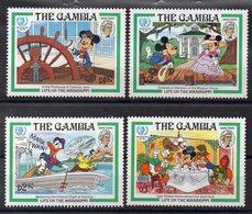 GAMBIE  Timbres Neufs ** De 1985 ( Ref 5716 ) Disney - Mark Twain - Gambie (1965-...)