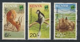 °°° KENYA - Y&T N°673/74/76 - 1996 °°° - Kenia (1963-...)