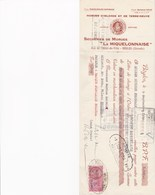 BEGLES LA MIQUELONNAISE SECHERIES DE MORUES D ISLANDE TERRE NEUVE AVEC CACHET TIMBRE ANNEE 1954 MR LACROIX BEZIERS - Francia
