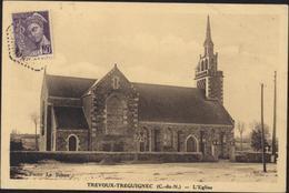 CPA CP Carte Postale Trévoux Tréguinec Cote Du Nord L'église Photo Le Bihan - France