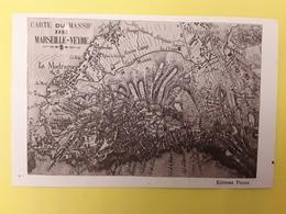 Carte Topographique Du Massif De MARSEILLE VEYRE , La Madrague, Mazargues Montredon, Ancien Camp Musso, Tb - Carte Geografiche