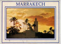 MARRAKECH    LA  KOUYOUBIA     2 SCAN       (VIAGGIATA) - Marrakech