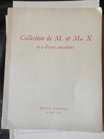 8) COLLECTION DE M. ET Mme X ET A DIVERS AMATEURS 1952 CATALOGO ASTA BOITES ARGENTERIE E ALTRO - Altri