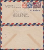 Formose 1954 - Lettre Par Avion De Taipei Vers Michigan - États-Unis  Ref. (DD246) DC-MV-246 - Taiwán (Formosa)