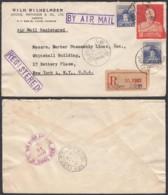 Formose 1954 - Lettre Recommandée  Par Avion De Taipei Vers New York - États-Unis  Ref. (DD247) DC-MV-247 - Taiwán (Formosa)
