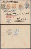 Indes Néerlandaises 1916 - Entier Postal Recommandé De Padang Vers Batavia.  Ref. (DD318) DC-MV-318 - Indes Néerlandaises