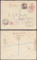 Indes Néerlandaises 1931 - Entier Postal Recommandé De Batavia  Vers England.  Ref. (DD319) DC-MV-319 - Indes Néerlandaises
