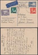 Indes Néerlandaises 1947- Entier Postal Par Avion De Batavia Vers Suïsse  Ref. (DD324) DC-MV-324 - Indes Néerlandaises