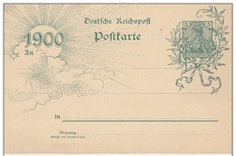 GERMANIA 1900 Cartolina Postale 5pf. Mi. P43 Nuova Perfetta - Deutschland