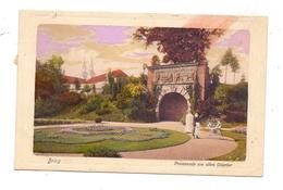 OBER-SCHLESIEN - BRIEG / BRZEG, Promenade Am Alten Odertor, Kinderwagen, 191.. - Schlesien
