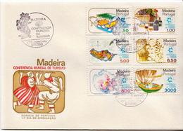 Madeira Set On FDC - Holidays & Tourism