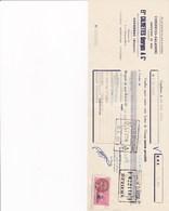 CAPDENAC GEORGES CALMETTES CONSERVES SALAISONS CHARCUTERIE AVEC CACHET TIMBRE ANNEE 1954 MR LACROIX BEZIERS - Francia